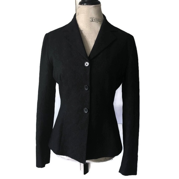 Barneys New York Jackets & Blazers - Barneys New York Black Velvet Blazer Double Button